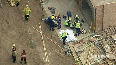 Teen crushed under wall in serious but stable condition