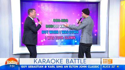 Guy Sebastian and Karl Stefanovic sang karaoke and it was cringe