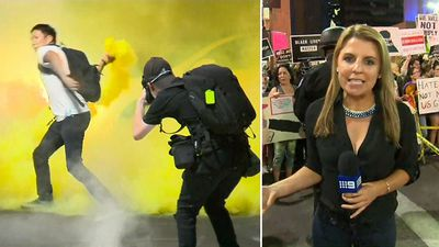What it's really like covering a violent Trump protest