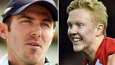 Former cricketer Damien Martyn and Clayton Oliver clash over AFL dive