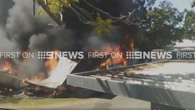 Explosion sets vans ablaze at Brisbane caravan park