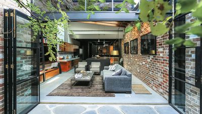 This gorgeous apartment used to be a commercial garage