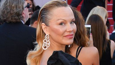 Pamela Anderson is totally unrecognisable at Cannes, ditches blonde locks for wet-hair 'do