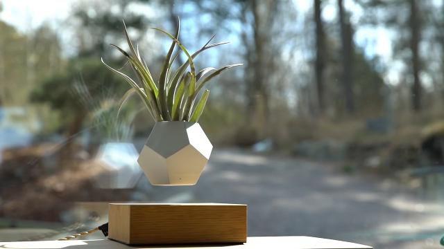 LYFE planter levitates like a hoverboard