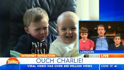 'Charlie bit my finger' kids recreate viral moment 10 years later, thanks to Karl Stefanovic