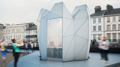 The humble beach hut is transformed into a futuristic pod