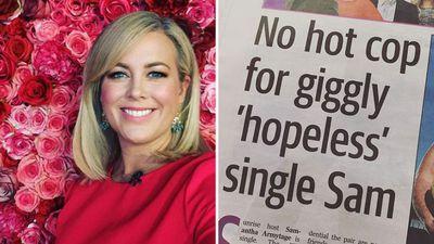 Sam Armytage slams 'bulls---' tabloids for 'hopeless single' article