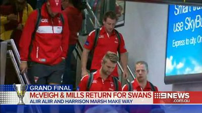 Swans recall pair for AFL grand final