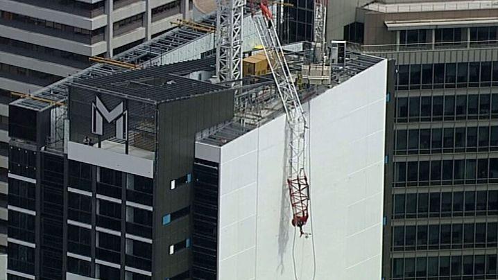 Three people injured in North Sydney crane collapse