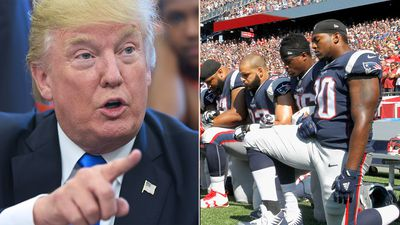 Fans boo 'unpatriotic' Patriots protesting on one knee