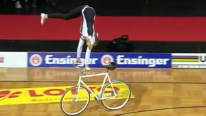 Artistic cycling showcases gymnastics on bikes