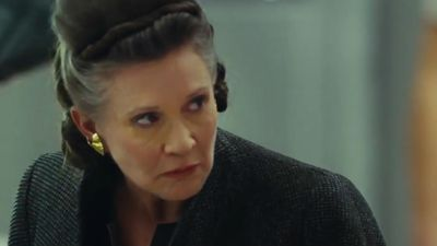 Carrie Fisher's dog watched his mum in the new Star Wars trailer