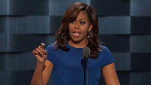 Michelle Obama rallies Democrats with stirring address