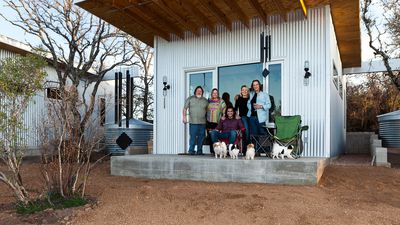 Bestie row: Lifelong friends build tiny homes next to each other
