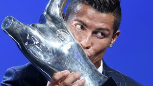 Cristiano Ronaldo was named the No.1 player in Europe, (AAP)