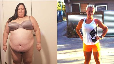 'Anything is possible': Woman who lost 115kg runs half triathlon