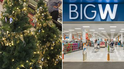 Outrage after Big W removes 'Christmas' from its tree range
