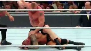 Lesnar splits Orton's head in WWE