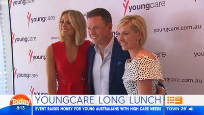 Sylvia Jeffreys campaigns for Youngcare following long lunch
