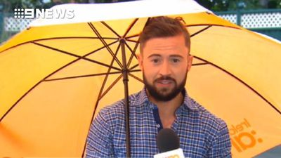 Irish weatherman literally blown away during live broadcast