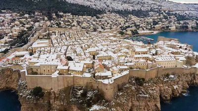 Dubrovnik has been transformed into a winter wonderland by rare snowfall