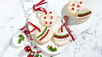 Jelly Belly Christmas bauble cookies