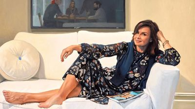 Lisa Wilkinson portrait by artist Peter Smeeth wins Archibald Packing Room Prize