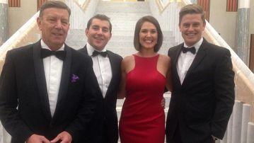 9NEWS political reporters Lane Calcutt, Charles Croucher, Lauren Gianoli and Joel Dry. (Douglas Ferguson/9NEWS)