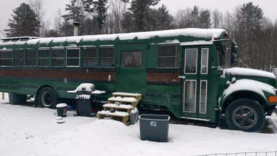 This retrofitted school bus tiny home could be yours for $33K