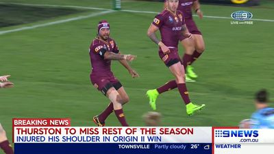 Queensland Maroons Johnathan Thurston to miss Game 3, rest of the season