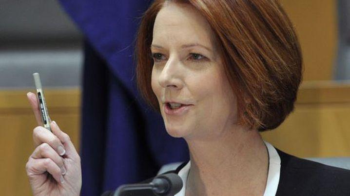 Julia Gillard in Canberra. (AAP)