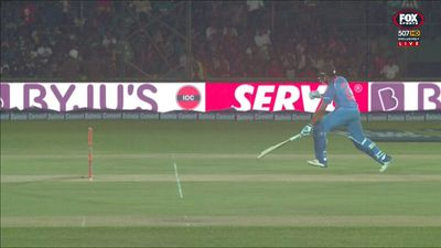 Indian batsman Rohit Sharma involved in freak run out against Sri Lanka
