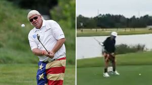 John daly's 13 year old son to team up with dad