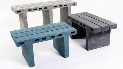 You won't believe what these benches are made from