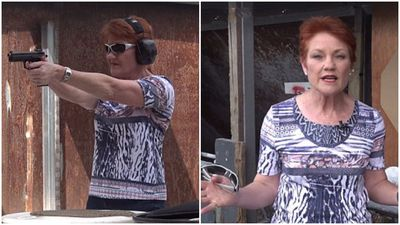 'Don't mess with me': Pauline Hanson stages visit to shooting range