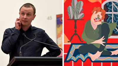 Mitch Cairns wins Archibald Prize 2017 for portrait of partner