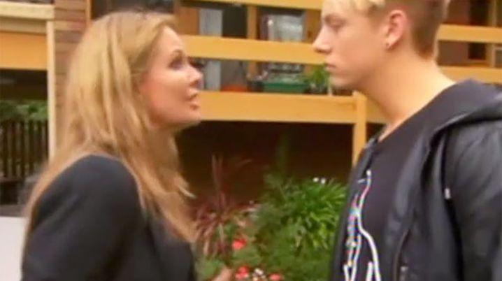 Charlotte Dawson confronts Jordan McGuire.