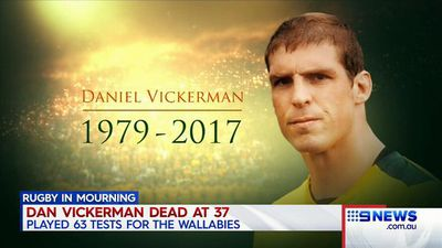 Former Wallaby Vickerman dead at 37