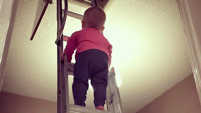 Dad Photoshops baby daughter into dangerous situations
