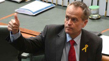 Bill Shorten in parliament yesterday. (AAP)