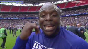 Footballer touts for new job in hilarious post-match interview