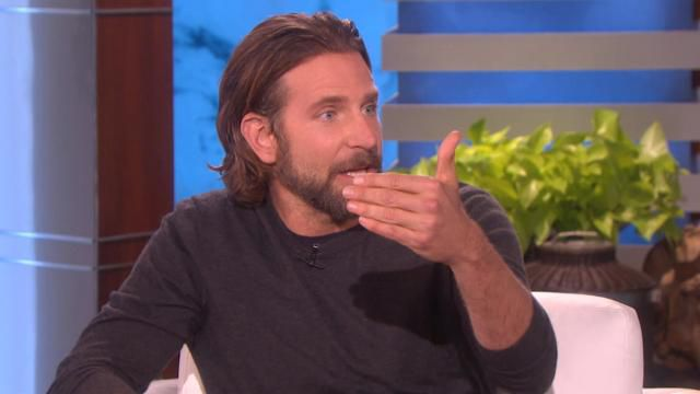 Ellen Won T Let New Dad Bradley Cooper Forget His Infamous Fake Baby Scene Watch