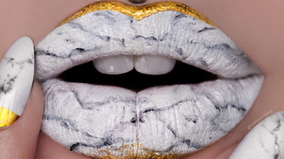 The must-have marble lip trend