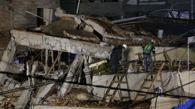 Grim search for survivors of Mexico earthquake as crews sift through rubble