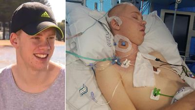 Boy 'expected to die' from coward hit makes miracle recovery