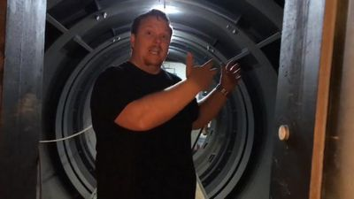Man transforms nuclear missile silo into underground mansion