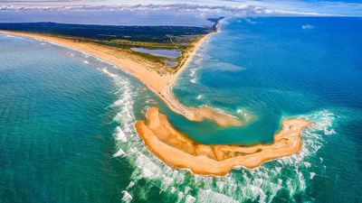 A mysterious island has appeared off the coast of North Carolina