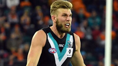 Port Adelaide utility player Jackson Trengove hit during pub brawl