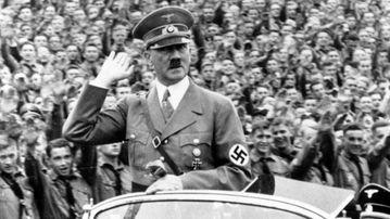Adolf Hitler at a 1938 Nuremberg rally. (AP)