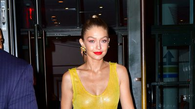 Gigi Hadid's golden moment